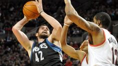 Kevin Love scored a season-high 42 points and added 10 rebounds, and the Minnesota Timberwolves snapped a 16-game losing streak to the Portland Trail Blazers with a 122-110 victory on Saturday night.