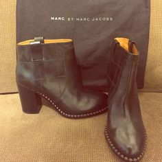 Marc By Marc Jacobs Heel Boots *Like New *Only worn twice *No Damage *No stains *Authentic *100%Leather Marc by Marc Jacobs Shoes Heeled Boots