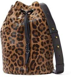 950d6efd7352 Jerome Dreyfuss Popeye Leopard-Print Calf Hair Bucket Bag Der Leopard, Leopard  Bag,