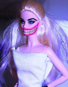 barbie with joker face