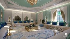 Beautiful majlis design in moroccan style. Get more amazing majlis living room interior design ideas. Interior Design Career, Interior Design Dubai, Luxury Homes Interior, Interior Design Companies, Interior Design Living Room, Interior Decorating, Room Interior, Moroccan Home Decor, Moroccan Interiors
