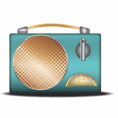Retro Radio Classic Photo Sculpture Magnet