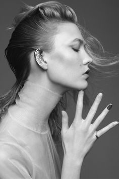 "Karlie Kloss in ""Une fileen or"" by Nico for Elle France, December 2014."