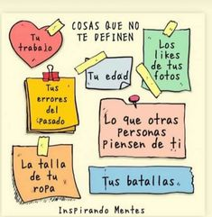 A tener en cuenta 🙌☺ . Positive Mind, Positive Vibes, Positive Quotes, Positive Things, Inspirational Phrases, Motivational Phrases, Words Quotes, Love Quotes, Coaching
