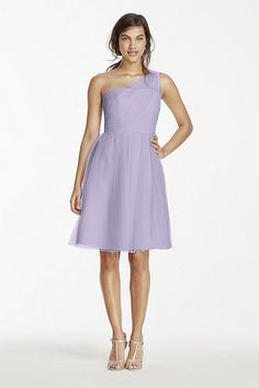 Short Tulle Dress with Illusion Neckline F15208