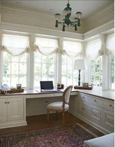 Home Office. Feminine Home Office Ideas. Hers Home Office Design. #HomeOffice #Office #Interiors