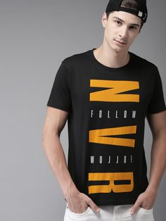 Buy Moda Rapido Men Black Printed Round Neck T Shirt - Tshirts for Men 9137785 | Myntra