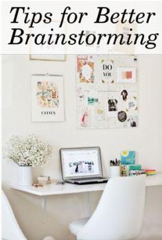Tips for Better Brainstorming Meetings