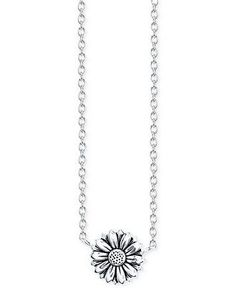 Unwritten Sunflower Pendant Necklace in Sterling Silver - Necklaces - Jewelry & Watches - Macy's