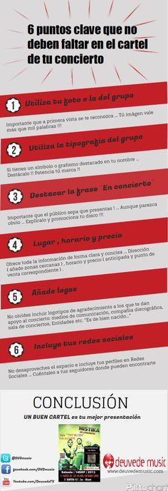 6 claves imprescindibles para hacer un cartel promocional para un concierto. #marketingmusical www.deuvedemusic.com
