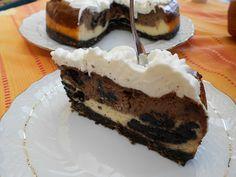 Cheesecake al forno con nutella e biscotti oreo