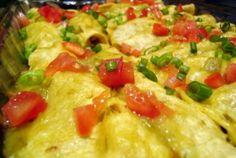 """Sour Cream Chicken"" Enchiladas   VegWeb.com, The World's Largest Collection of Vegetarian Recipes"