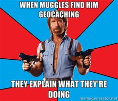 Repin if you've had to explain to muggles what you're doing! #geocache #geocaching