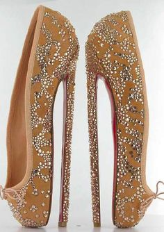 crazy+shoes | Eight-inch high heel shoes by Christian  the perfect ballerina shoe