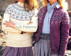 PDF Knitting pattern for a Ladies Fair Isle by TheKnittingSheep