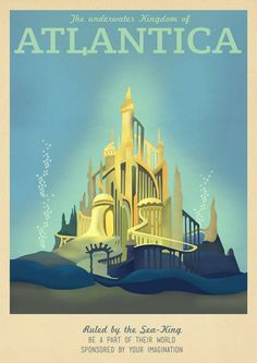 Atlantica Disney Travel Poster by TeacupPiranha