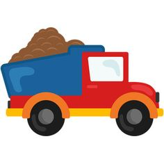 {FREE} Dump truck cut file-- today only, April 21 Transportation Party, Scrapbook Images, Benne, Baby Boy Scrapbook, Baby Clip Art, Construction Birthday, Cute Clipart, Boy Quilts, Dump Truck
