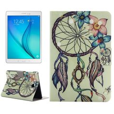 For+Tab+A+8.0+T350+Windbell+Pattern+Horizontal+Flip+Leather+Case+with+Holder