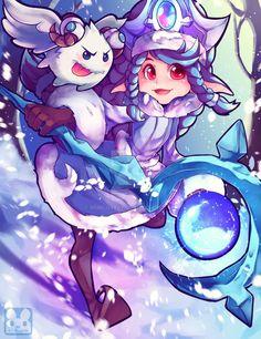 Commission : Winter wonder Lulu - League of Legend by Murlovely