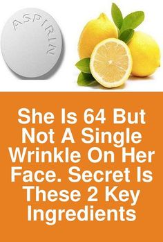 She is 64 but not a single wrinkle on her face. Secret is these 2 key ingredients According to experts, aspirin is very effective due to its ingredient known as salicylic acid. Besides being able to relieve the pain, aspirin can also improve the condition and health of your skin. This is why in this article we will present you 3 amazing recipes for facial masks which will not only help you … Beauty Care, Beauty Skin, Beauty Hacks, Health And Beauty, Healthy Beauty, Diy Beauty, Homemade Beauty, Beauty Ideas, Beauty Makeup