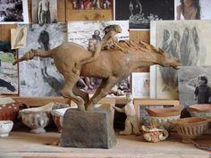Fanny Ferré, sculpteur Sculptures, Lion Sculpture, Frozen In Time, Ferrat, Camel, The Creator, Photographers, Studios, Horses