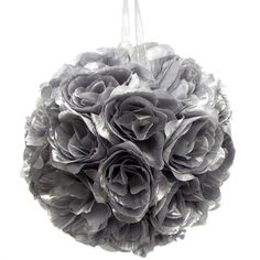 Flower Kissing Balls Wedding Centerpiece, 10-inch