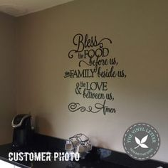 Bless the Food Vinyl Decal, The Vinyl Letter, #tvlcustomerphotos