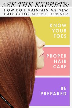 How to maintain your new hair color // tips for keeping the hue vibrant