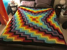 Square and Ripple Blanket, free pattern