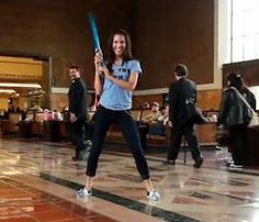 May 4 has become an unofficial nerd holiday for Star Wars fans as Star Wars day. The video below shows a female fan dancing to the Star Wars bar song. She had a blast. May the 4th be with you!!