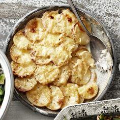 Potato and Celery Root Gratin with Gouda #classicreinvention #cheeseplease #holidaysidedishes