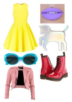 """""""Untitled #211"""" by bandsdestroyamylife on Polyvore featuring AQ/AQ, Dr. Martens, WithChic, Yves Saint Laurent and FRACOMINA"""