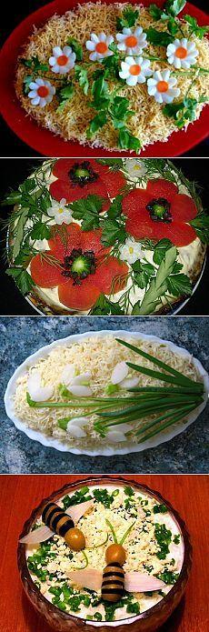 Оформление блюд – украшение салатов   Рецепты моей мамы