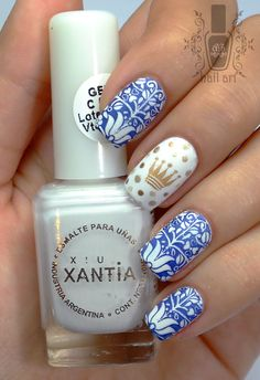 #Royal nails with accent dots. These were inspired by the TV series Victoria (a period drama based on the life of Queen Victoria) which I binge watched last weekend (all 8 episodes of it). #nailartchallengenov #nailart #nails #stamping #itv #itvvictoria #instanails #notd #nailsoftheday #royalnails #esmaltesxantia #moyoulondon #nailartaddict #allaboutnails #nailitdaily