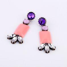 N00317 New Arrival Women Qingdao Factory Hot Sale Wholesale Lucite Fashion Friendly Statement Earrings