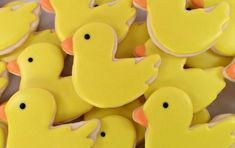 duck, duck (I guess you can cut out sugar cookies in form of a duck and then ice it.) Cute idea