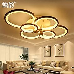 """Universe of goods - Buy """"LED round living room bedroom dining room ceiling lamp dimming acrylic modern minimalist personality modeling lamp for only USD. Gypsum Ceiling Design, Ceiling Design Living Room, Bedroom False Ceiling Design, Home Design Living Room, Home Ceiling, Ceiling Lights, Ceiling Lamp, Asian Paint Design, Interior Design Images"""