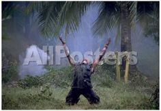 Platoon Willem Dafoe as Sgt Elias Arms Up Movie Poster Print Movies Poster - 48 x 33 cm