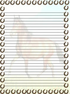 152 best borders equine stationary images on pinterest
