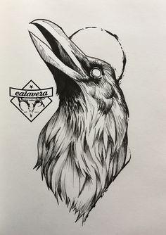 Pin by muammer ukten on art tattoo drawings, tattoo sketches, tattoo design Tattoo Sketches, Tattoo Drawings, Body Art Tattoos, Art Sketches, Art Drawings, Crows Drawing, Rabe Tattoo, Raven Art, Tattoo Project