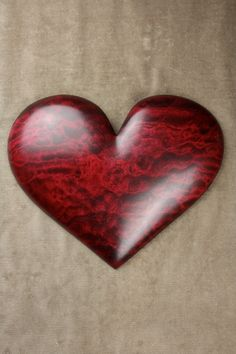 Quilted maple carved heart dyed red