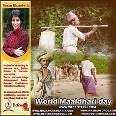 "World Maaldhari day  Maldharis are nomadic tribal herdsmen who live in the Gujarat state of India. The literal meaning of Maldhari is ""owner of animal stock"".[citation needed] They are notable as the traditional dairymen of the region and once supplied milk and cheese to the palaces of rajas.  #youthicon #motivationalspeaker #inspirationalspeaker #mentor #personalitydevelopment #womenempowerment #womenentrepreneur #entrepreneur #ruzankhambatta #womenleaders #World Maaldhariday"