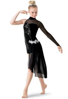 Weissman® | Sequin Biketard with Back Skirt