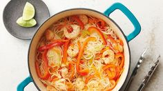 With Rice Stick Vermicelli Noodles Shrimp, Ginger,Soy Sauce fresh Vegetables, this Classic Filipino Pancit is as flavorful as it is Easy. Best Shrimp Recipes, Fish Recipes, Seafood Recipes, Asian Recipes, Cooking Recipes, Oven Recipes, Cooking 101, Asian Cooking, Filipino Recipes