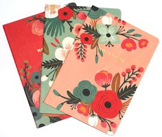 Just bought this Rifle Paper Co. notebook set and I'm pretty obsessed <3