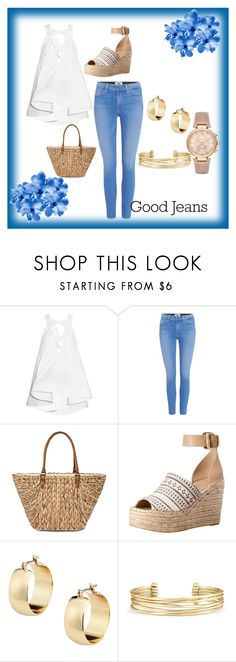 """Going To Market"" by jennbabel ❤ liked on Polyvore featuring Rosie Assoulin, Paige Denim, Straw Studios, Marc Fisher LTD, Stella & Dot and Michael Kors"