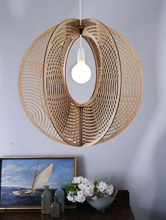 Sustainable Flat Pack Timber Chandelier #cnc #chandeliers #lighting http://cnc.gallery/