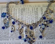 You Won_t Have the Blues Bracelet with Book Charms