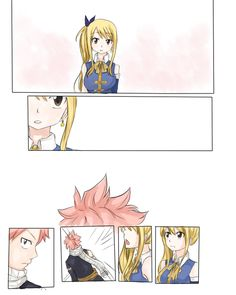 Part 1 NaLu (that's not the actual name so please don't comment saying it's wrong ; Natsu Et Lucy, Fairy Tail Natsu And Lucy, Fairy Tail Love, Fairy Tail Nalu, Fairy Tail Ships, Nalu Comics, Fairy Tail Comics, Fairy Tail Couples, Gruvia