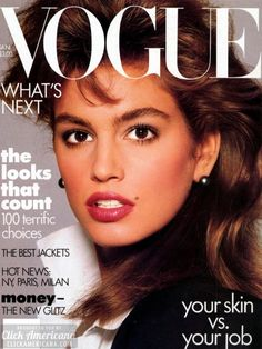 Cindy Crawford Vogue  January 1987